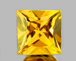 4.00 mm Square Princess 0.44ct Ceylon Yellow Sapphire [VVS]