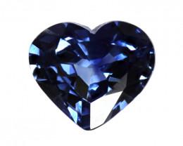 0.40cts Natural Australian Blue Sapphire  Heart Shape