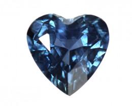 0.26cts Natural Australian Blue Sapphire  Heart Shape