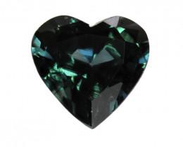 0.29cts Natural Australian Blue Sapphire  Heart Shape