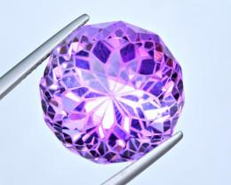 Flawless 21.37 Carat Amethyst Top Fancy Cut Gemstone