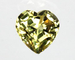 0.35cts Natural Australian Yellow Sapphire  Heart Shape