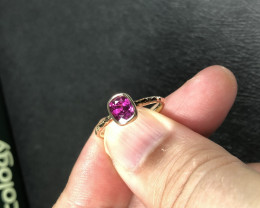 CERTIFIED 1.23CT GORGEOUS RUBY 14k GOLD RING