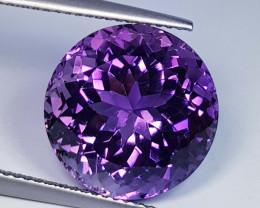 11.35 ct  Top Quality Gem  Round Cut Natural Purple Amethyst