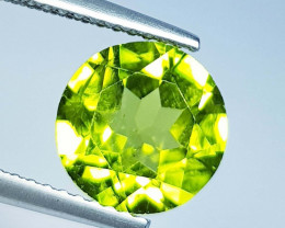 2.91 ct  Top Quality Gem  Round Cut Top Luster Natural Peridot