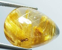 16.70 Ct Top Grade Gem Pear Cab Natural Golden Rutile Quartz