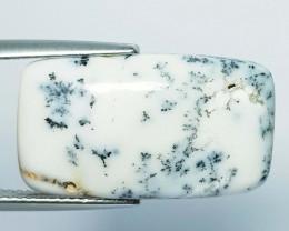 12.23 ct Natural Dendrite Opal Rectangular Cabochon  Gemstone