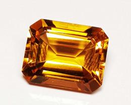 3.22 ct Excellent Gem Emerald Cut Top Luster Natural Citrine