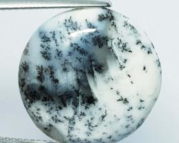 14.84 ct Natural Dendrite Opal Round Cabochon  Gemstone