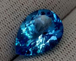 12.51CT BLUE TOPAZ  BEST QUALITY GEMSTONE IIGC59