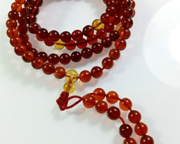 Natural Blood Red Amber Necklace