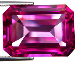 22.65Cts Genuine Amazing Natural Pink Topaz 18x13mm Emerald Cut Loose Gemst