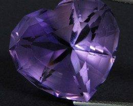 25.60Cts Genuine Amazing Quality Natural Amethyst Fashion Heart Shape Loose