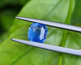 NO HEAT 1.55 CTS CERTIFIED NATURAL STUNNING BLUE SAPPHIRE FROM SRI LANKA