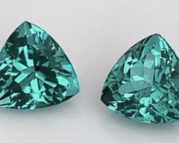 Bright Blue Green Glittering Pair of Apatite - Madagascar KR233