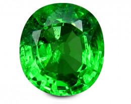 Tsavrite Garnet 0.71 Cts  Vivid Green Step cut BGC1166 | From Tanzania