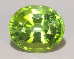 2.10 cts Attractive Natural green Tourmaline Gemstone Oval Shape