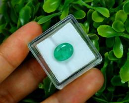 Emerald 2.81Ct Oval Cut Natural Zambian Green Color Emerald C2113