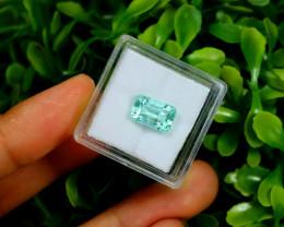 Emerald 2.26Ct Colombian Muzo Emerald Neon Mint Green Beryl B2210