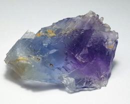 Amazing Natural Bicolor Damage free  Fluorite Specimen 164Cts-P
