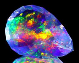 ContraLuz 10.72Ct Pear Cut Mexican Very Rare Species Opal B2216