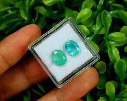 Emerald 3.04Ct 2Pcs Oval Cut Natural Zambian Green Emerald B2232