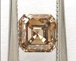 1.24ct  Natural Fancy yellowish Brown Emerald Diamond IGI certified  + Vide