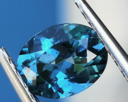 2.20 CTS~EXCELLENT OVAL CUT LONDON BLUE NATURAL TOPAZ NR!!