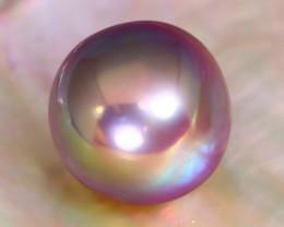 12.6mm 14.05Ct Natural Tahitian Purple Golden Pearl A2306