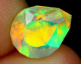 Welo Opal 1.12Ct Pear Cut Natural Ethiopian Neon Flash Welo Opal A2317