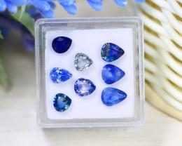 Sapphire 5.05Ct Pear Cut Natural Australian Parti Sapphire Lot Box A2318