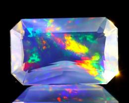 ContraLuz 3.14Ct Octagon Cut Mexican Very Rare Species Opal A2331