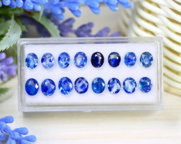 Sapphire 8.54Ct Pear Cut Natural Australian Blue Sapphire Lot Box C2304