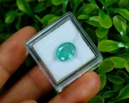 Emerald 2.36Ct Oval Cut Natural Zambian Green Color Emerald C2309