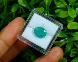 Emerald 2.72Ct Oval Cut Natural Zambian Green Emerald Box C2335