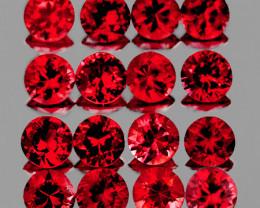 1.80 mm Round 30 pcs 1.00ct Orange Red Sapphire [VVS]