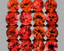 1.70 mm Round 35 pcs 1.00ct Pinkish Orange Sapphire [VVS]
