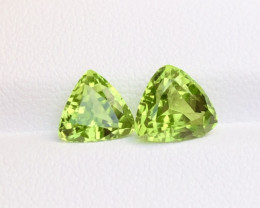 Parrot Green Color 3.35 Ct Natural Top Quality Peridot