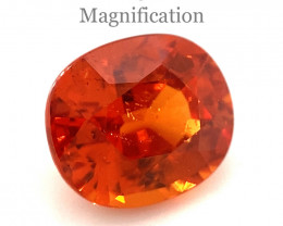 4.65ct Cushion Vivid Fanta/Mandarin Orange Spessartine Garnet GIA Certified