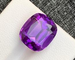 10.45 Carats fancy cut amethyst gemstone