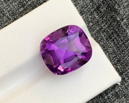 12.40 Carats fancy cut amethyst gemstone