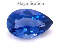7.88ct Pear Vivid Blue Sapphire GIA Certified Sri Lanka