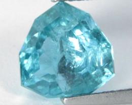 3.90Cts Genuine Fantastic Paraiba Blue Color Apatite Trillion Custom Cut Lo