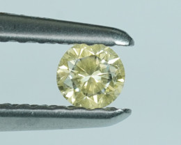 .12CT 3mm FANCY YELLOW COLOR 100% NATURAL DIAMOND