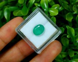 Emerald 2.48Ct Oval Cut Natural Zambian Green Color Emerald B2430