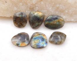 D1678 - 54.5cts 6pcs natural labradorite cabochon,labradorite stones,loose