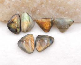 D1679 - 67cts 6pcs natural labradorite cabochon,labradorite stones,loose ge