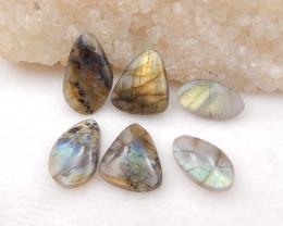 D1680 - 35.5cts 6pcs natural labradorite cabochon,labradorite stones,loose