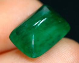 Emerald 4.48Ct Natural Zambian Sugar Loaf Imperial Green Emerald F2221