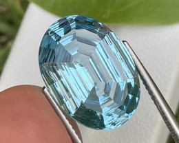 13.43 Cts Custom Cut AAA Quality Natural Blue Topaz